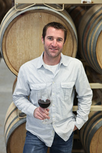 Dave Reilly (Winemaker) in Winery